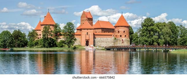Trakai Castle on Lake Galve
