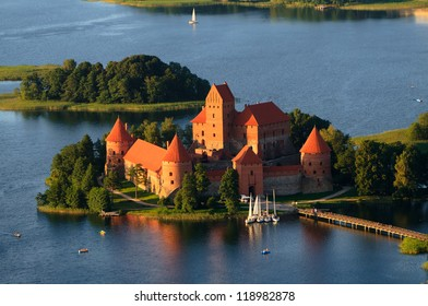 Trakai castle (Traku pilis) in Lithuania near Vilnius