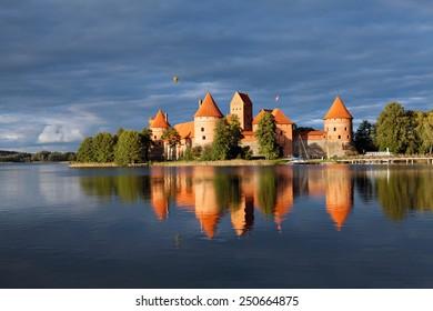 Trakai Island Castle in Lithuania, Eastern Europe.