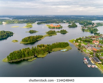 Trakai Island Castle is an island castle located in Trakai, Lithuania on an island in Lake Galve. Trakai was one of the main centers of the Grand Duchy of Lithuania and the castle held great strategic