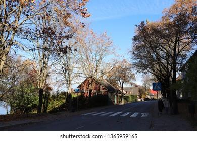 Trakai , Lithuania - October 22, 2018 : Trakai street view, Trakai , Lithuania.