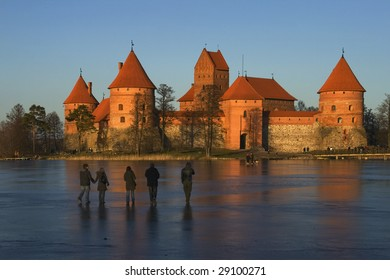Trakaj castle in Lithuania, ancient capital of Lithuania.