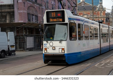 Tram 19 At The Leidseplein Amsterdam The Netherlands 2019