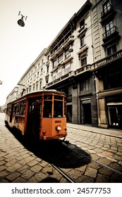 Tram from the 1920s in Milan