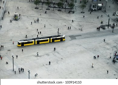 Tram in Alexanderplatz