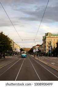 Tram along Avenyn in Gothenburg