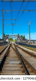 The tram appeared at the Bornholm Bridge in Berlin, Germany