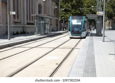 Tram at Barcelona's street