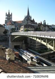 Tram network in Lausanne, Switzerland