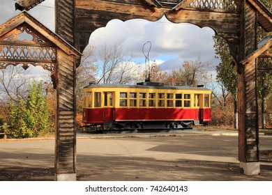 Tram of the old model. Saratov, Russia.