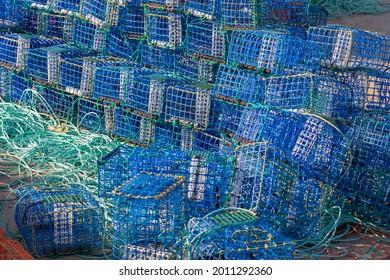 Tranvías y cestas, artes de pesca tradicionales