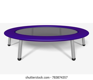 Trampoline. 3D generated illustration.