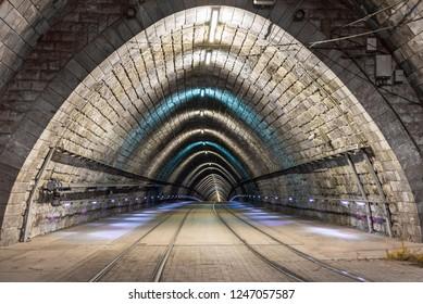 Tramway in the Bratislava tunnel