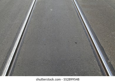 Tramway rails in east Berlin