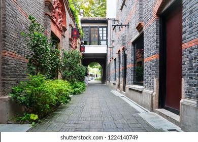 Tranditional view of a Shanghai alley,  Shikumen, in China