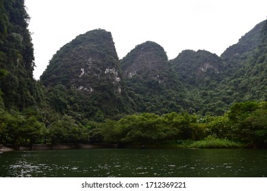 Trang An landscape complex, a UNESCO World Heritage site famous for its limestone karst peaks in Vietnam