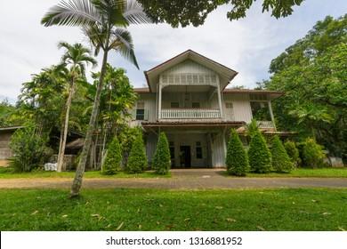Trang, Thailand - January 1,2019 : Phraya Ratsadanupradit Mahison Phakdi Museum in Trang, Thailand on January 1,2019.