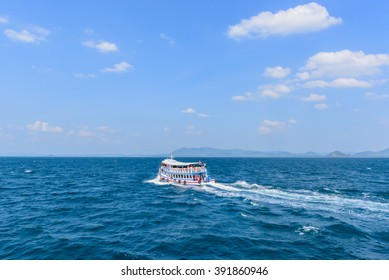 TRANG, THAILAND-February 19,2016: touristic boat in sea Trang During trip one day Koh rok island in Trang, Thailand
