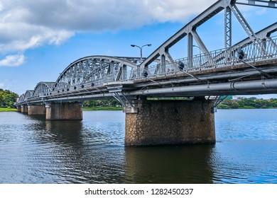 Trang Tien Bridge and Perfume river view, Hue city, Vietnam