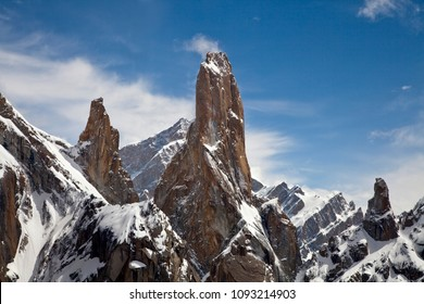 Trango Tower a beautiful rock tower in Karakorum range  ,Pakistan