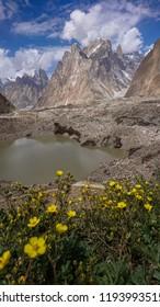 Trango tower family in the Karakoram range, K2 Base Camp, Pakistan