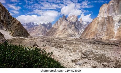 Trango Towers and Baltoro Glacier Karakorum Pakistan