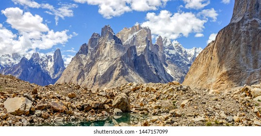 Trango Towers are a family of rock towers situated in northern Pakistan, 6,286 m above sea level