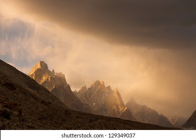 Trango Towers at Sunset, Karakorum, Pakistan