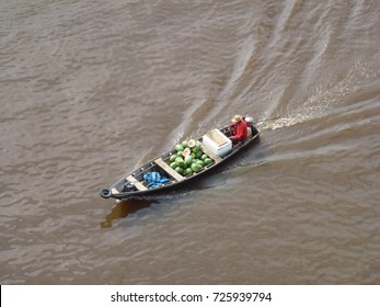 Tranport by boat of watermelons on the Amazon river, near Manaus, Brazil