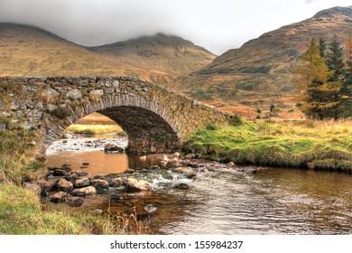 Tranquil Autumn scene Scotland