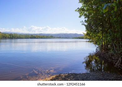 The tranquil Daintree River in Tropical North Queensland, Australia