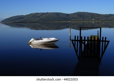 Tranquil lagoon in Knysna in South Africa