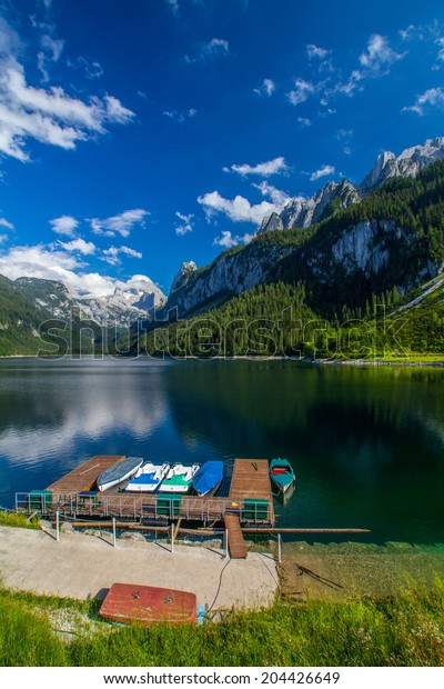 Tranquil lake in the high mountains Alps Austria
