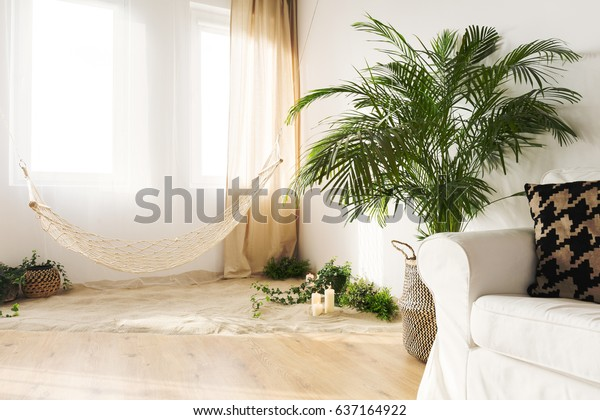 Tranquil Sand Living Room Hammock Couch Royalty Free Stock