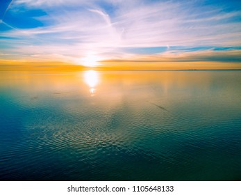 Tranquil scenic view of beautiful sunset over sea