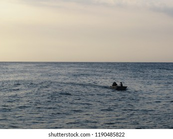 Tranquil Sea Life of Fisherman in The Caribe