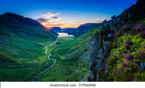 Tranquil Sunset in Buttermere valley, The Lake District, Cumbria, England