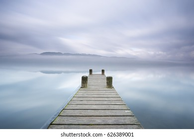 Tranquil waters, Lake Windermere and pier