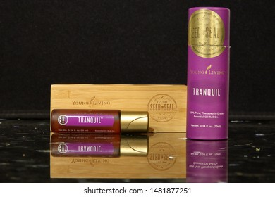 Tranquil Young Living Essential Oils Blend for relaxation - San Antonio, Texas, USA - August 17, 2019