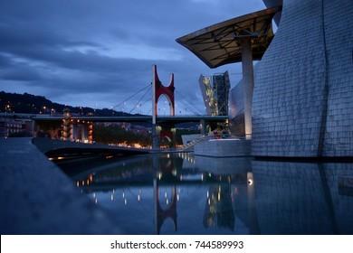 Tranquility at Guggenheim Museum.  Bilbao, SPAIN