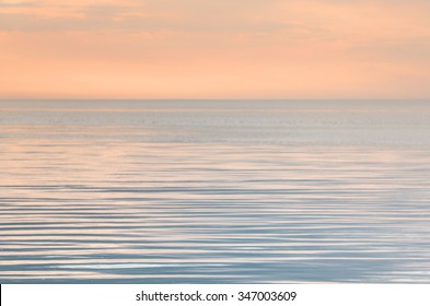 Tranquility on the sea in evening
