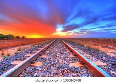 Trans Australian railway towards west
