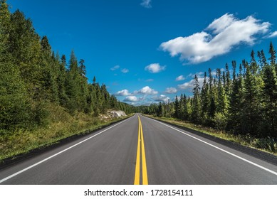 Trans Canada highway near Superior Lake shore
