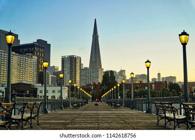 TransAmerica Building as seen from Pier 7, San Francisco.
