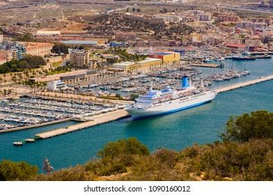 Transatlantic in Cartagena port in Spain
