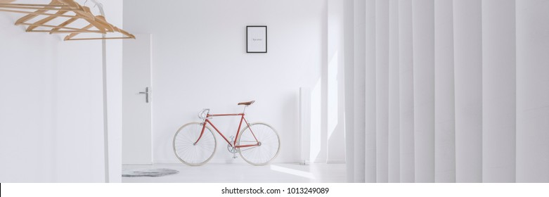 Transcribed word human on a poster hanging in a modern interior of a day room