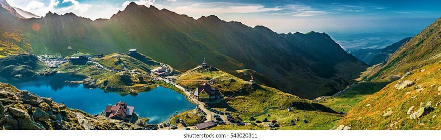 Transfagarasan Balea glacier lake - Lake, is a glacier lake situated at 2.034 m of altitude in the Mountains, in central Romania, Sibiu County.