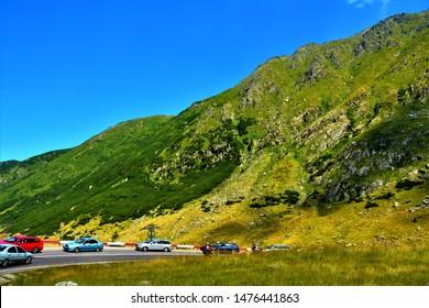 transfagarasan from the Fagaras mountains - Romania 11.Aug.2019