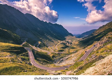 Transfagarasan highway, probably the most beautiful road in the world, Europe, Romania (Transfagarashan)