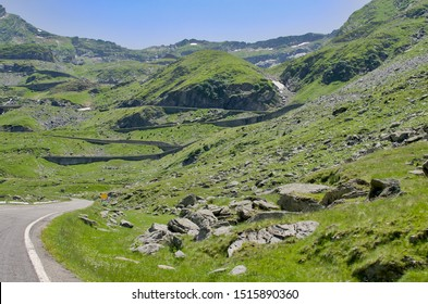 Transfagarasan pass in summer. Crossing Carpathian mountains in Romania